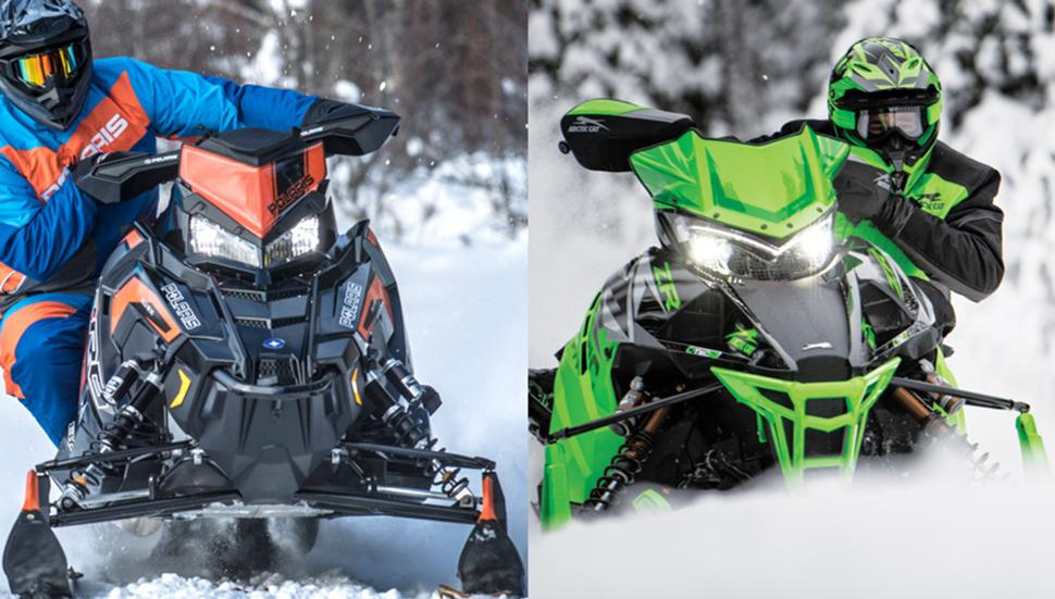 Polaris 800 rush pro-s и arctic cat zr 8000 rr es