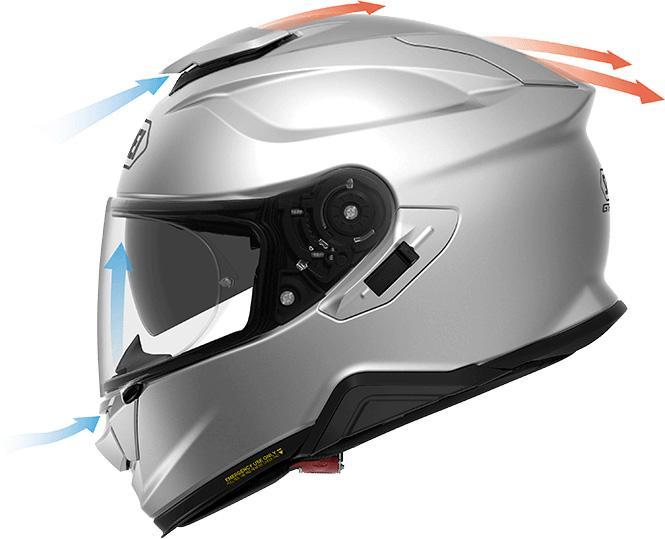 Вентиляция мото шлема Shoei GT-Air II