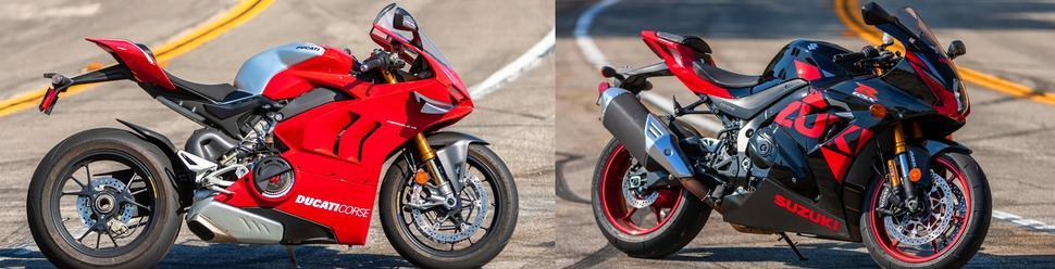 Ducati Panigale V4R против Suzuki GSX-R1000R