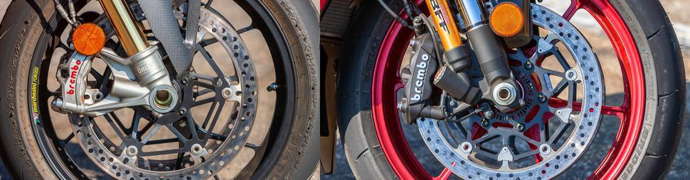 Ducati Panigale V4R и Suzuki GSX-R1000R