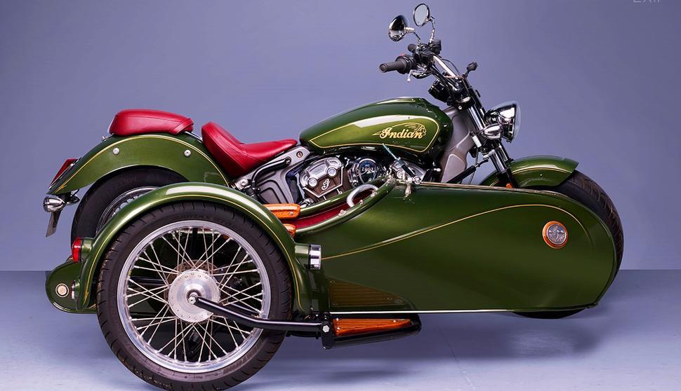 Indian Scout 1200 с коляской