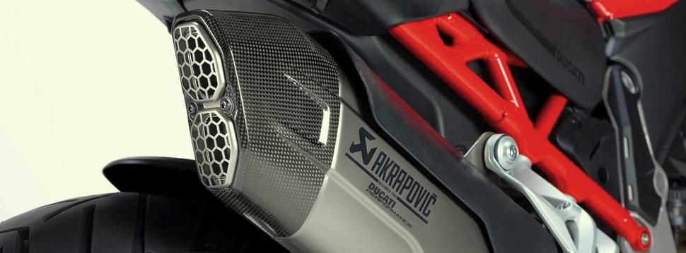 Выхлоп Akrapovič для Ducati Multistrada V4 2021