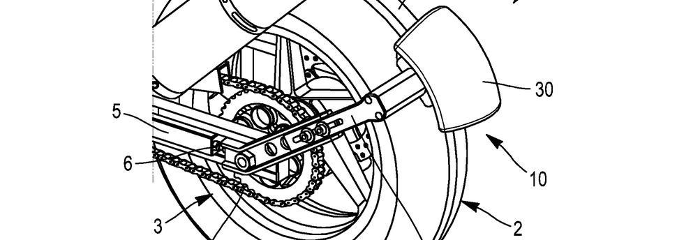 Крыло с приводом на колесо от Michelin. Патент
