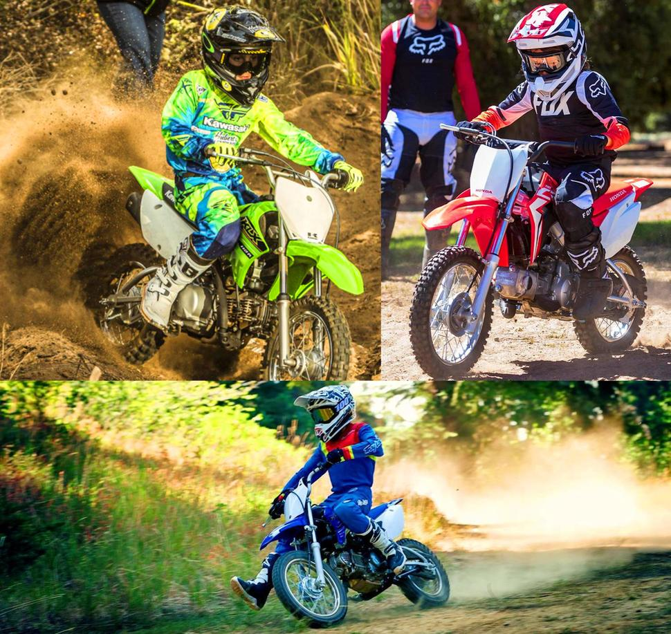 Тест Honda CRF110F 2021 Kawasaki KLX110R 2021 Yamaha TT-R110E 2021