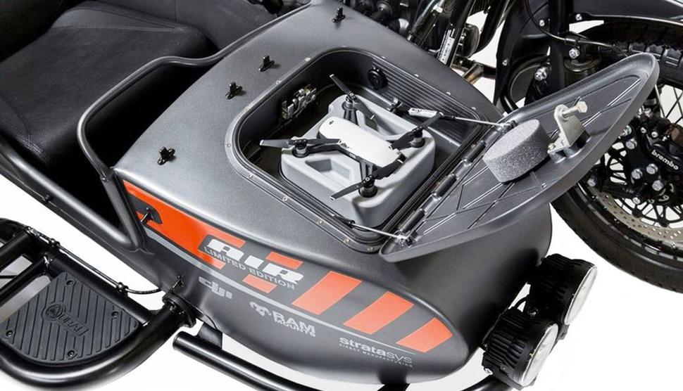 Дрон на мотоцикле Урал